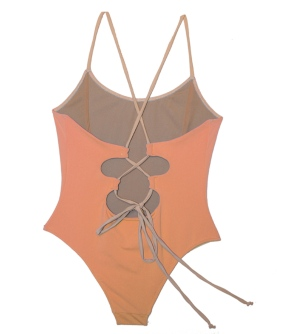 "Daisy & Elizabeth ""Astro Vixen"" One-Piece in Sunstone, $175.00"