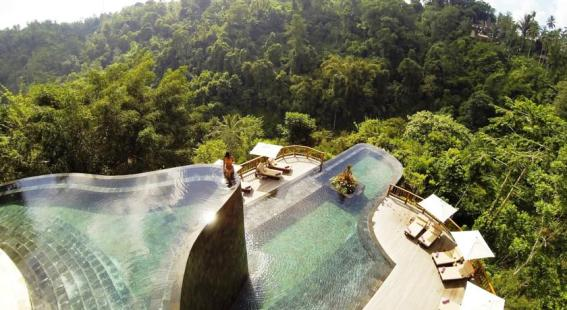 Infinity Pools at Hanging Gardens Ubud, Bali