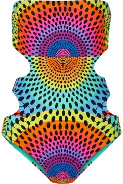 "Mara Hoffman's ""Electrolight"" Reversible Printed Swimsuit, $245.00"