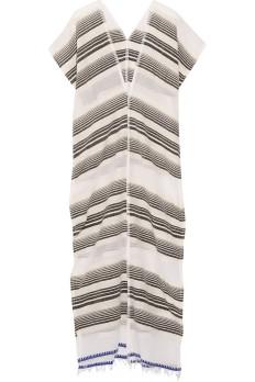 LEMLEM Nunu Striped Cotton-Blend Gauze Cover Up