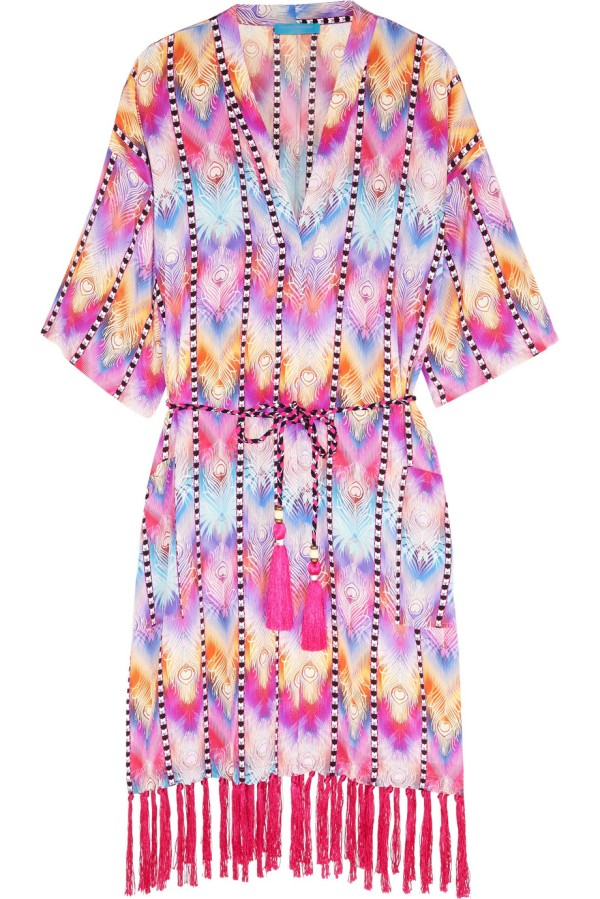 Matthew Williamson Printed Silk Crepe de Chine Kaftan