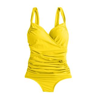 J.Crew's Ruched Wrap One-Piece Swimsuit in Crisp Yellow, $88.00