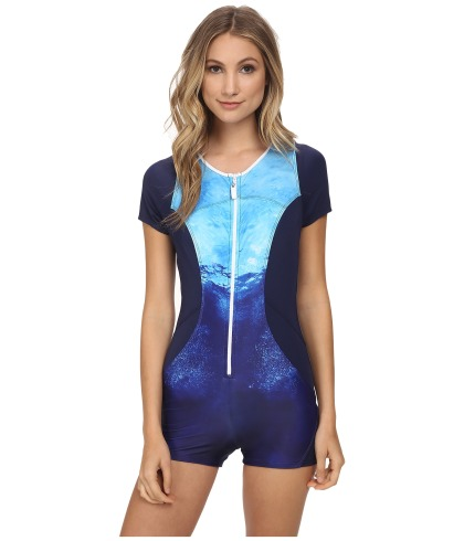 """Nautica's """"Into the Blue"""" Zip-up One Piece Wetsuit, $117.00"""