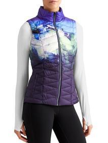 Athleta Altitude Down Vest in Sapphire Blue Print