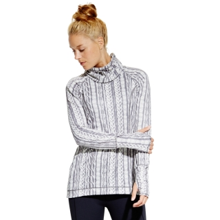 CALIA by Carrie Underwood_Women's Cold Weather Printed Funnel Neck Shirt in Cable