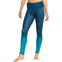 CALIA by Carrie Underwood Women's Cold Weather Printed Tight Fit Leggings in Teal Marine Ombre Scroll