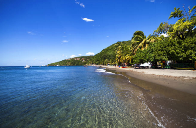 Guadeloupe and Martinique beaches