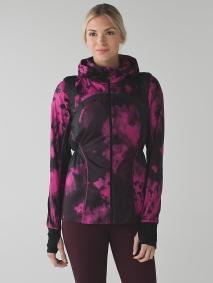 Lululemon Vent it Out Jacket in Blooming Pixie Raspberry Black/Black