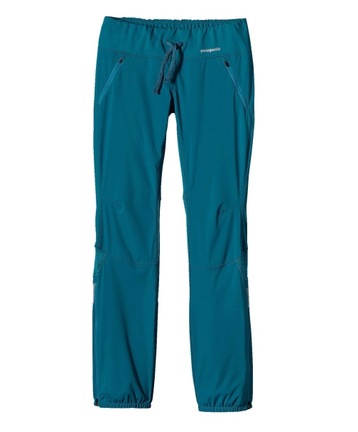 Patagonia Women's Wind Shield Hybrid Soft Shell Pant in Underwater Blue