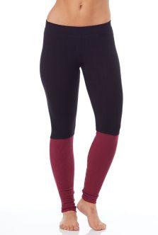 Spiritual Gangster Ballet Knit Legging in Black/Crimson