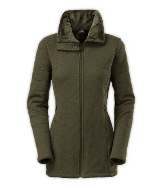 The North Face Caroluna Jacket in Forest Night Green Heather