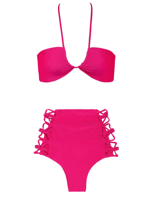 Tori Praver hot pink bikini