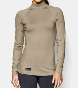 Under Armour ColdGear® Infrared Tactical Mock in Desert Sand