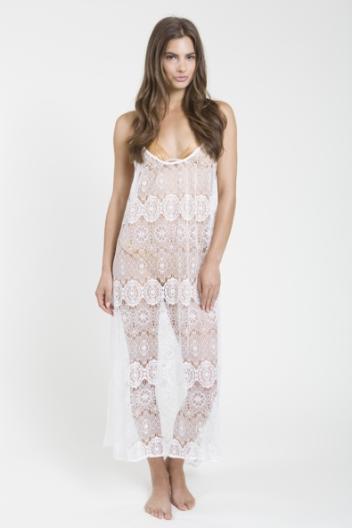 9seed Tulum Cover-up in White Paris Lace ($128.00)