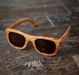 Bourbon & Boots Zebra Wood Wayfarer Sunglasses ($52.00)