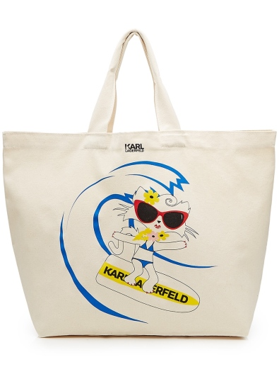 Choupette on the Beach Cotton Shopper ($49.00)