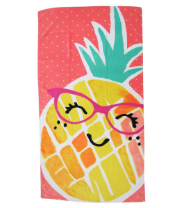 Evergreen Basics Miss Pineapple Beach Towel ($8.24)