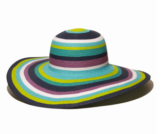 Gottex Road Trip Striped Beach & Pool Hat in Blue Multi ($55.00)