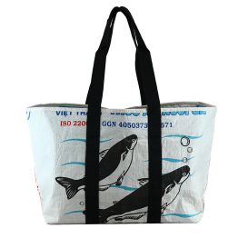 Nomi Recycled Polypropylene Everyday Large Tote in Aquatic Print ($35.00)