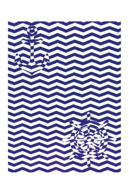 Trademark Productions Zig Zag & Elements Beach Towel for Two ($19.97)