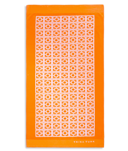 Trina Turk Palm Spring Block Beach Towel in Orange ($59.99)