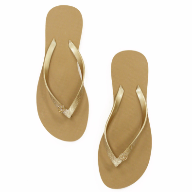 ViX Paula Hermanny Solid Gold Flip-Flop ($26.00)