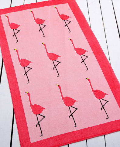 Whim by Martha Stewart Collection Flamingo Beach Towel ($19.99)