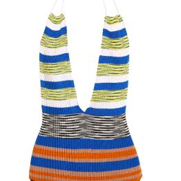 Missoni Mare Cut-out Striped Crochet-Knit Halterneck One-Piece Swimsuit ($468.00)