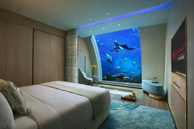 Ocean Suites underwater hotel rooms at Sentosa, Singapore