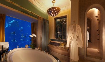 Underwater hotel rooms at Atlantis The Palm, Dubai