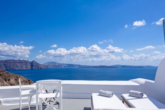 Canaves Oia Hotel, Santorini, Greece I Room Service: 15 Hotels Around the World With Spectacular Views