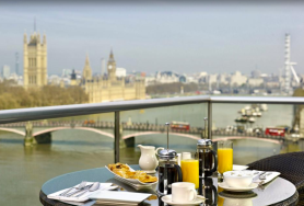 Plaza on the River, London, England I Room Service: 15 Hotels Around the World With Spectacular Views