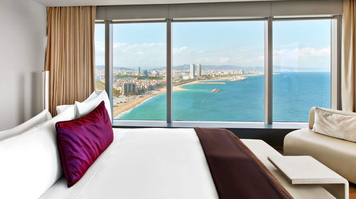 W Hotel Barcelona, Spain I Room Service: 15 Hotels Around the World With Spectacular Views