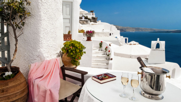 Alexander's Boutique Hotel, Santorini, Greece I Room Service: 7 Cave Hotels to Get Cozy In This Fall I {un}covered