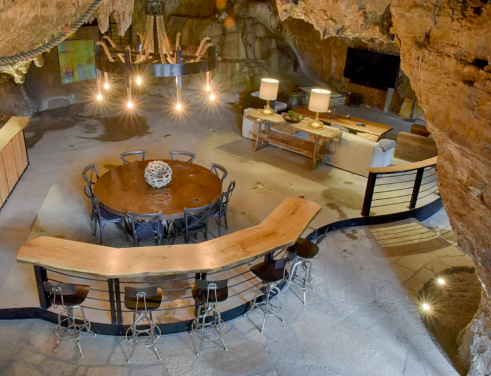 Beckham Creek Cave Lodge, Arkansas, United States I Room Service: 7 Cave Hotels to Get Cozy In This Fall I {un}covered