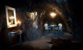 "Sala Silvermine ""Mine Suite,"" Sweden I Room Service: 7 Cave Hotels to Get Cozy In This Fall I {un}covered"