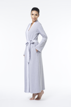 "Fleur't Cotton French Terry ""Close to Me"" Long Plush Robe in Heather Grey I 9 Robes to Get Wrapped Up in This Fall, & Where We'd Wear Them I {un}covered"