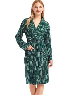 Gap Piping Print Knit Robe in Paris Geo Green I 9 Robes to Get Wrapped Up in This Fall, & Where We'd Wear Them I {un}covered