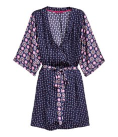 H&M Satin Kimono in Dark Blue Print I 9 Robes to Get Wrapped Up in This Fall, & Where We'd Wear Them I {un}covered
