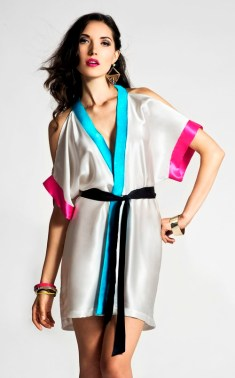 "Lola Haze Silk Charmeuse ""The Bomb"" Robe I 9 Robes to Get Wrapped Up in This Fall, & Where We'd Wear Them I {un}covered"