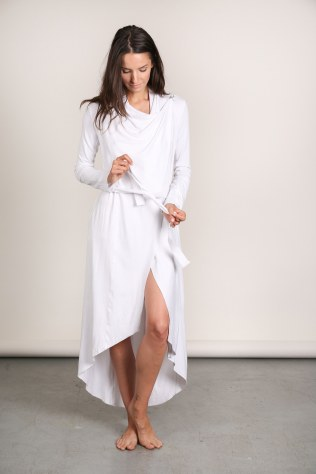"Lunya French Terry ""The Robe"" in White I 9 Robes to Get Wrapped Up in This Fall, & Where We'd Wear Them I {un}covered"