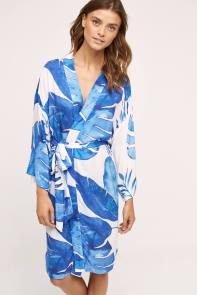 Mrs. Darcy Modal Ocean Palm Robe at Anthropologie I 9 Robes to Get Wrapped Up in This Fall, & Where We'd Wear Them I {un}covered