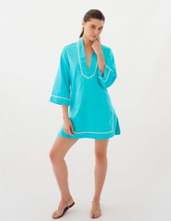 Sea Lily Woven and Hand-Dyed Classic Tunic in Turquoise I Holiday Gift Guide: 25 Perfect Picks For the Beach Babe I {un}covered