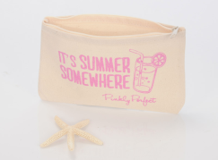 Pinkly Perfect It's Summer Somewhere Cotton Pouch I Holiday Gift Guide: 25 Perfect Picks For the Beach Babe I {un}covered