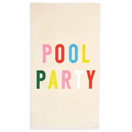"""Ban.do 40"""" x 70"""" Giant Pool Party Beach Towel I 18 Stylish, Oversized Beach Towels For Spreading Out This Summer I {un}covered"""