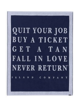 "Island Company 57"" x 75"" Quit Your Job Beach Towel I 18 Stylish, Oversized Beach Towels For Spreading Out This Summer I {un}covered"