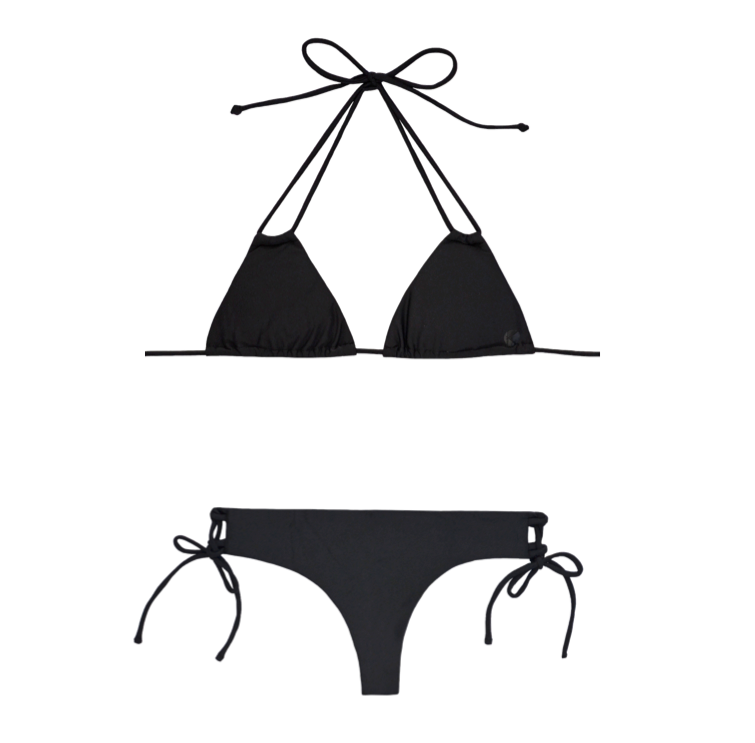 KALOEA POIPU Bikini Top and MANIHI Bikini Bottom in Black I 15 Trés Chic Little Black Bikinis Under $100 I {un}covered