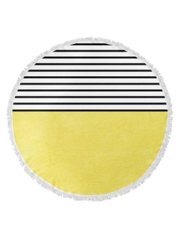 "Kavka Designs 60"" Sunshine Round Towel in Yellow I 18 Stylish, Oversized Beach Towels For Spreading Out This Summer I {un}covered"