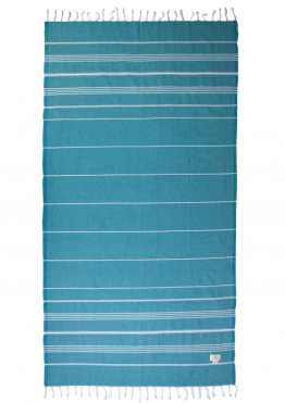 """Lazy Mosquito 40"""" x 75"""" The Classicer Towel in Turquoise I 18 Stylish, Oversized Beach Towels For Spreading Out This Summer I {un}covered"""