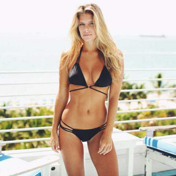 Plumeria Swimwear At the Copa Bikini in Black I 15 Trés Chic Little Black Bikinis Under $100 I {un}covered